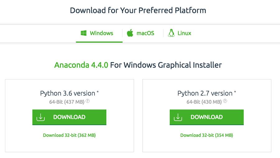 python anaconda download
