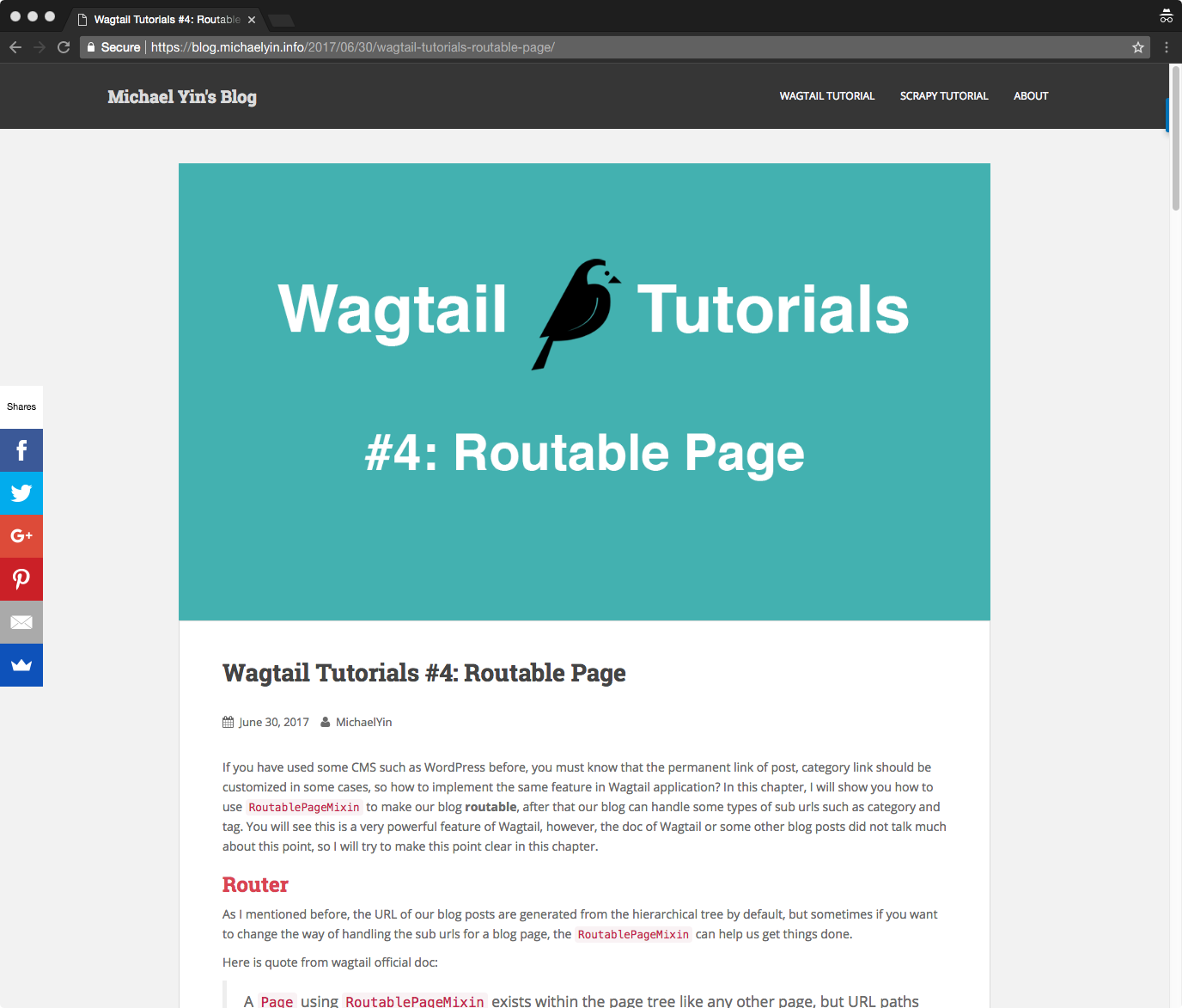 Wagtail tutorial